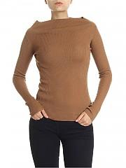 [관부가세포함][360 캐시미어] Hazelnut colored ribbed sweater (36133 VICUNA)