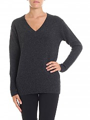 [관부가세포함][360 캐시미어] Dark grey cashmere Runa sweater (36214 GRAPHITE)