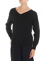 [관부가세포함][알렉산더 왕] Black pullover with silver zip (1K281053K3 001)