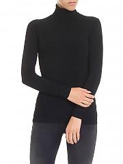 [관부가세포함][다이앤폰퍼스텐버그] Jelena Two black turtleneck (11957 BLACK)