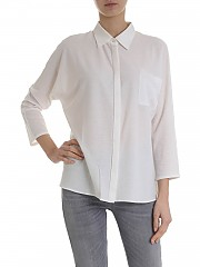[관부가세포함][람베르또 로자니] Ivory cotton and silk shirt (281200 0126)