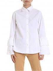 [관부가세포함][퍼지] White shirt with flounces (F91188 11587 001)