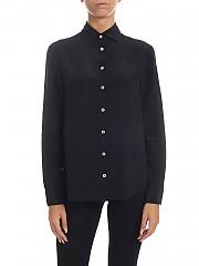 [관부가세포함][바르바] Black shirt in pure silk (OVERD31 1764-09)