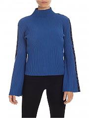 [관부가세포함][마이트윈트윈셋] FW19 여성 Jacquard detail 니트 풀오버 in blue (192MP3010 04054)