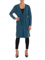 [관부가세포함][마이트윈트윈셋] FW19 여성 Turquoise 가디건 with lame finish (192MP3102 03941)