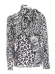 [관부가세포함][레드발렌티노] FW20 여성 레오파드 실크 셔츠 (UR3AB1Y0 56A A03)