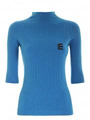 [관부가세포함][에르마노 바이 에르마노 설비노] FW20 여성 logo three-quarter sleeves shirt (47 T MG33 00441)