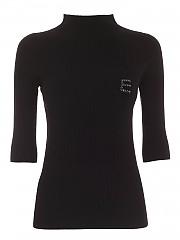 [관부가세포함][에르마노 바이 에르마노 설비노] FW20 여성 logo three-quarter sleeves shirt (47 T MG33 00099)