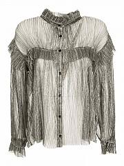[관부가세포함][이자벨마랑 에뚜왈] FW20 여성 셔츠 (HT1871-20A053E SILVER)
