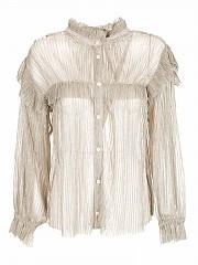 [관부가세포함][이자벨마랑 에뚜왈] FW20 여성 셔츠 (HT1871-20A053E METALLIC)