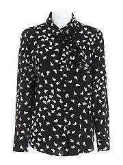 [관부가세포함][레드발렌티노] FW20 여성 butterflies print silk shirt (UR0ABA85 5E0 0NO)
