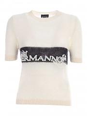 [관부가세포함][에르마노 바이 에르마노 설비노] FW20 여성 반팔 니트 스웨터 (47 T MG22 24999)