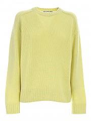 [관부가세포함][아크네스튜디오] FW20 여성 스웨터 (A60192 LEMON YELLOW)