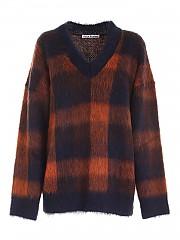 [관부가세포함][아크네스튜디오] FW20 여성 스웨터 (A60218 NAVY ORANGE)