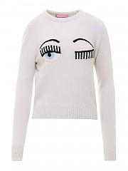 [관부가세포함][키아라 페라그니] FW20 여성 니트 스웨터 (CFJM050 OFF WHITE)