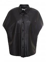 [관부가세포함][메종 마르지엘라] FW20 여성 오버사이즈 가죽 셔츠 (S62DL0038 SY1363 900)