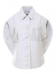 [관부가세포함][메종 마르지엘라] FW20 여성 민소매 가죽 셔츠 (S62AN0037 SY1498 101)