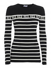 [관부가세포함][레드발렌티노] FW20 여성 니트 스웨터 (UR3KC01M 58H 0MG)