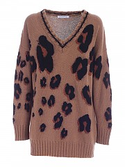 [관부가세포함][비베타] FW20 여성 브이넥 니트 스웨터 (20I V2M0 A021 7056 1355)