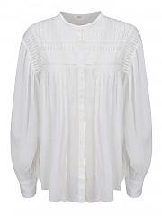 [관부가세포함][이자벨마랑] FW20 여성 ruches shirt (HT1821-20A052E20 WH)