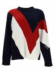[관부가세포함][발렌티노] FW20 여성 wool and cashmere v 스웨터 (UB3KC15Q5NE 66Q)