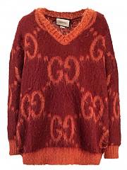 [관부가세포함][구찌] FW20 여성 gg v-neck 스웨터 (639380 XKBK2 6151)