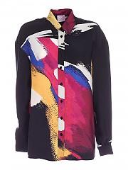 [관부가세포함][스텔라진]  abstract print satin shirt (J DR CA08 2724 0995)