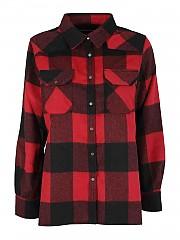[관부가세포함][디파트먼트5] FW20 여성 checked flannel shirt (D21C61 F2112 844)