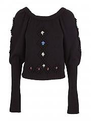 [관부가세포함][필라소피 드 로렌조 세라피니] FW20 여성 embroidered detailed wool 스웨터 (A09035706 0555)