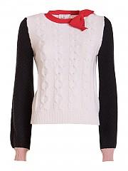 [관부가세포함][블루마린] FW20 여성 보우 니트 스웨터 multicolor (228172 652)