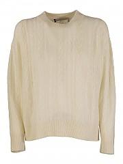 [관부가세포함][아뇨나] FW20 여성 케이블 캐시미어 크루넥 니트 스웨터 (K1001186 P080A N03)