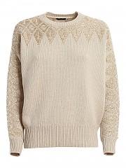 [관부가세포함][페세리코] FW20 여성 니트 스웨터 (S99915F05 K9018 K44 BEIGE+ORO)