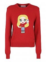 [관부가세포함][키아라 페라그니] FW20 여성 스웨터 (CFJM043 RED)