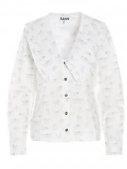 [관부가세포함][GANNI] SS21 여성 셔츠 (F5777151)