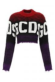 [관부가세포함][GCDS] FW20 여성 니트 크롭 스웨터 G(FW21W020039 03)