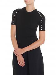 [관부가세포함][알렉산더 왕] Black t-shirt with buttons (1K281012K4 001)