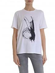 [관부가세포함][람베르또 로자니] 여성 반팔 린넨 티셔츠 (281237/S 0100)