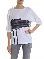 [관부가세포함][람베르또 로자니] 여성 7부 린넨 티셔츠 (281240/W 0100)
