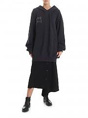 [관부가세포함][Y's 요지야마모토] Y's printed over hoodie in black (YJ-T03-671)