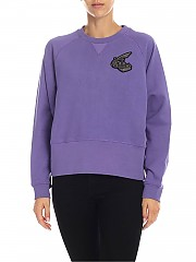 [관부가세포함][비비안웨스트우드 앵글로매니아] Purple sweatshirt with Orb logo patch (17020012-20988 J401)