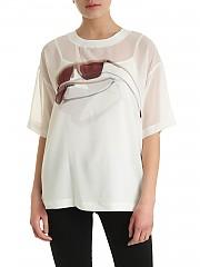 [관부가세포함][DKNY] SS20 여성 glasses logo print 티셔츠 (P0AA7EPJ IVY)