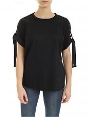 [관부가세포함][DKNY] SS20 여성 반팔 린넨 티셔츠 (P0AACENV PLK)