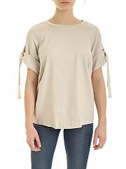 [관부가세포함][DKNY] SS20 여성 반팔 린넨 티셔츠 (P0AACENV PBL)