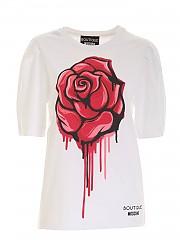 [관부가세포함][모스키노 부티크] FW20 여성 반팔 티셔츠 (J1203 6140 1002)
