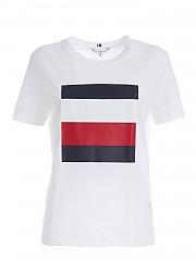 [관부가세포함][타미힐피거] FW20 여성 반팔 티셔츠 (WW0WW28788 YBR)