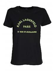 [관부가세포함][칼라거펠트] FW20 여성 티셔츠 (205W1725 BLACK)
