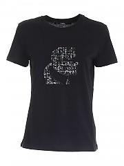 [관부가세포함][칼라거펠트] FW20 여성 반팔 티셔츠 (206W1700 999)