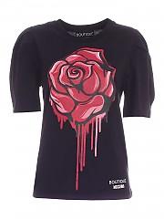 [관부가세포함][모스키노 부티크] FW20 여성 반팔 티셔츠 (J1203 6140 1555)