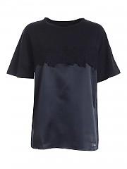 [관부가세포함][에르마노 바이 에르마노 설비노] FW20 여성 반팔 티셔츠 (47 T TS17 00099)