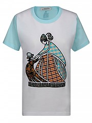 [관부가세포함][랑방] FW20 여성 반팔 티셔츠 (RW-TO615JJ-R31A-202 01)